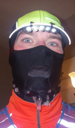 What happens when you run a 14 miler in 10 below…